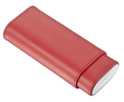 Visol Red Leather Cigar Case