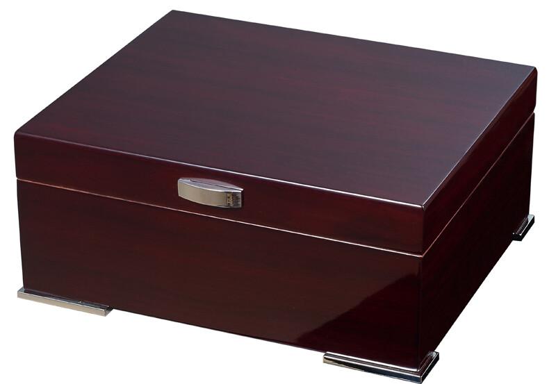Visol Xander Burgundy Wood Humidor Gift set