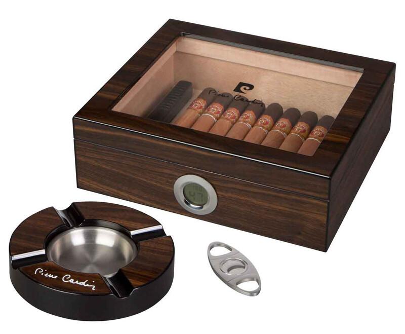 Pierre Cardin Bastrop Glass Top Cigar Humidor