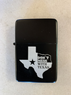 Don't Mess With Texas Double Torch Lighter - Black