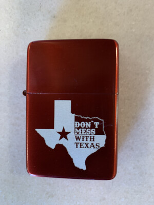 Dont Mess With Texas Double Torch Lighter - Red