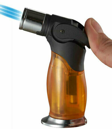 Visol Trigger Triple Flame Torch Lighter Orange