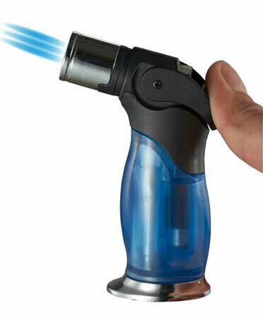 Visol Trigger Triple Flame Torch Lighter Blue
