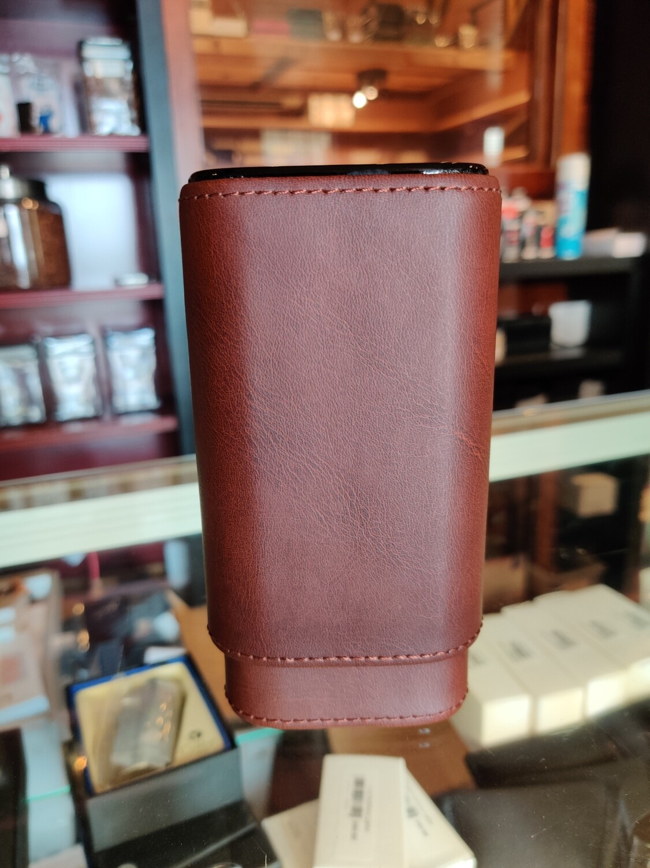 Visol  Brown Burgos Leather Cigar Case
