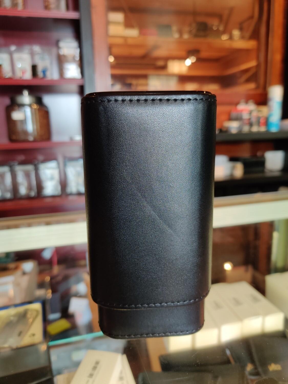 Visol  Black Burgos Leather Cigar Case