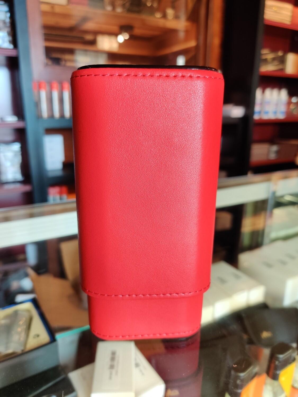 Visol  Red Burgos Leather Cigar Case