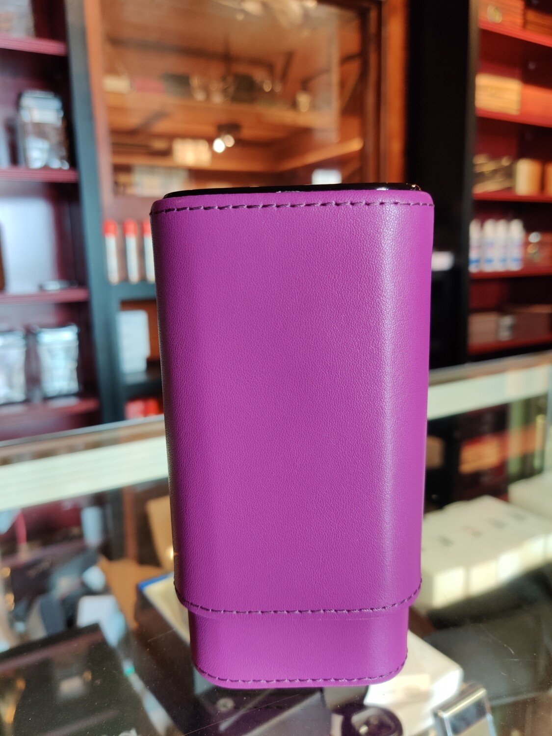 Visol  Purple Burgos Leather Cigar Case