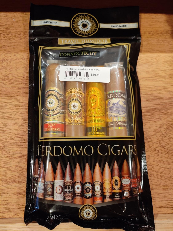 Perdomo Humidified Bag 4 Pk Con Assortment