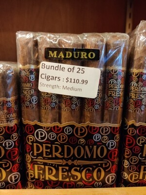 Perdomo Fresco Toro Maduro 25 Cigar Bundle
