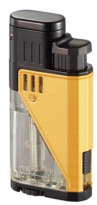 Visol Apollo Yellow Dual Torch Cigar Lighter