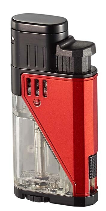 Visol Apollo Red Dual Torch Cigar Lighter