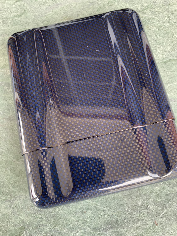 Blue Carbon Fiber Kevlar Cigar Case