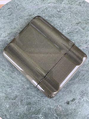 Green Carbon Fiber Kevlar 5 Cigar Case