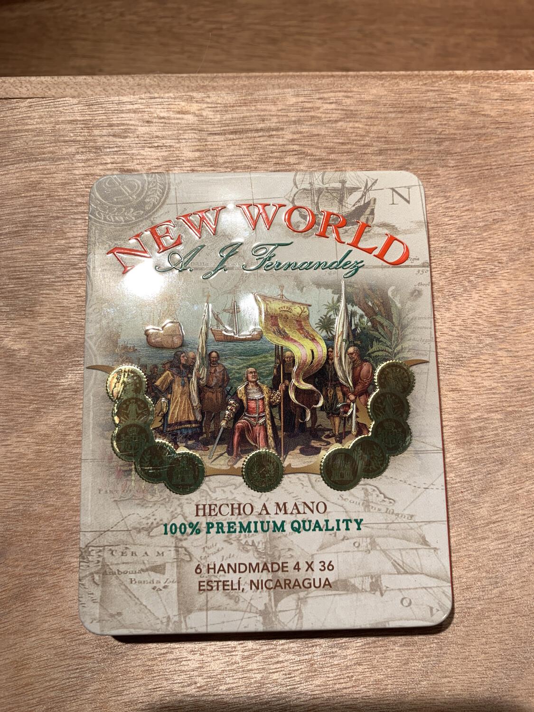 AJF - New World  Tin (6 Cigar Tin)