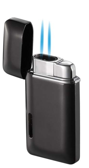 Visol Nevis Dual Torch Cigar Lighter - Black