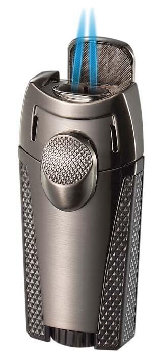 Visol Meru Dual Torch Cigar Lighter - Gunmetal
