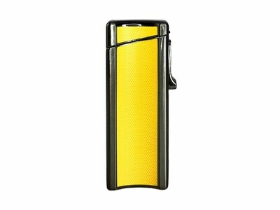 Visol Ridge Yellow Single Flame Torch Lighter with Cigar Rest