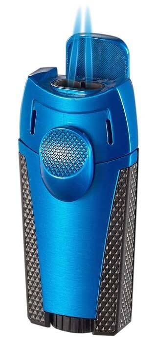 Visol Meru Dual Torch Cigar Lighter - Blue