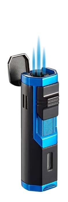 Visol Andes Triple Torch Cigar Lighter - Blue and Black