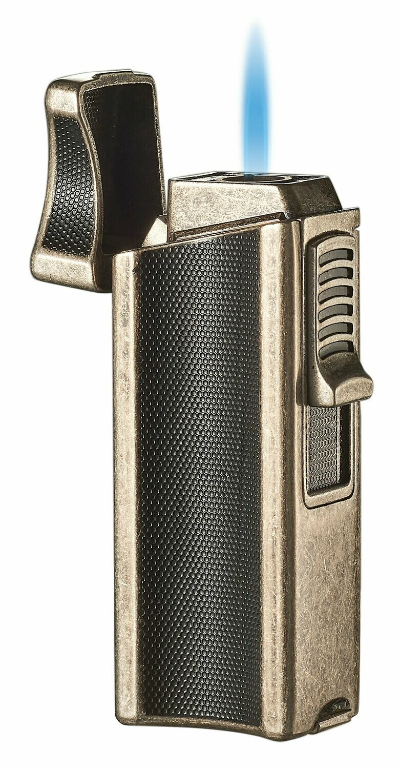 Visol Ridge Antique Finish Single Flame Torch Lighter with Cigar Rest