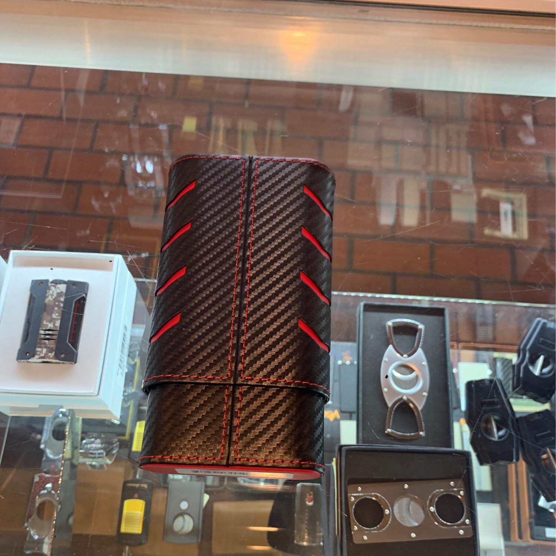Black Carbon Fiber 2 Finger Case
