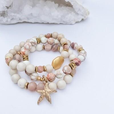 Impression Jasper & Starfish Bracelet Stack