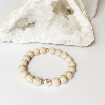 Riverstone & Sterling Bracelet