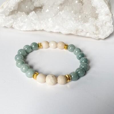 Jade & Riverstone Bracelet
