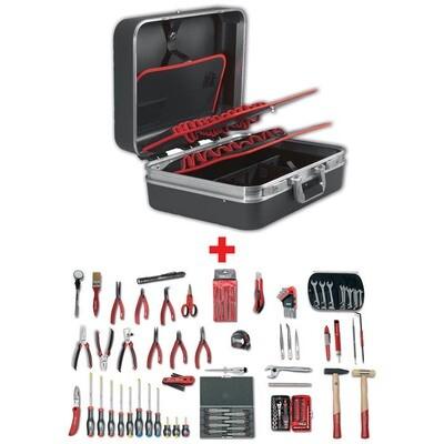 Werkzeugkoffer für Elektroniker mit Sortiment 496 F2 (127-teilig)