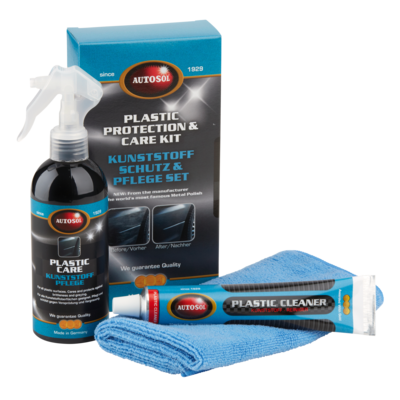 Plastic protection & care set