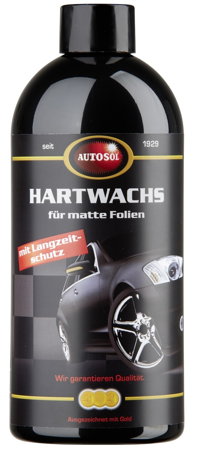 Hard wax with long-term protection for matt films