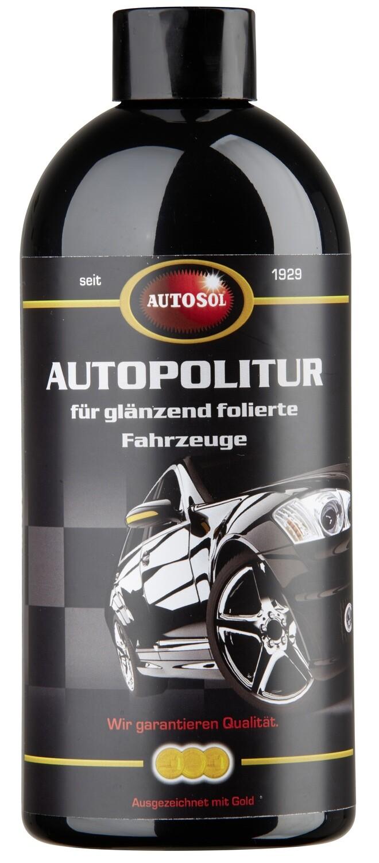 Car polish for glossy foils