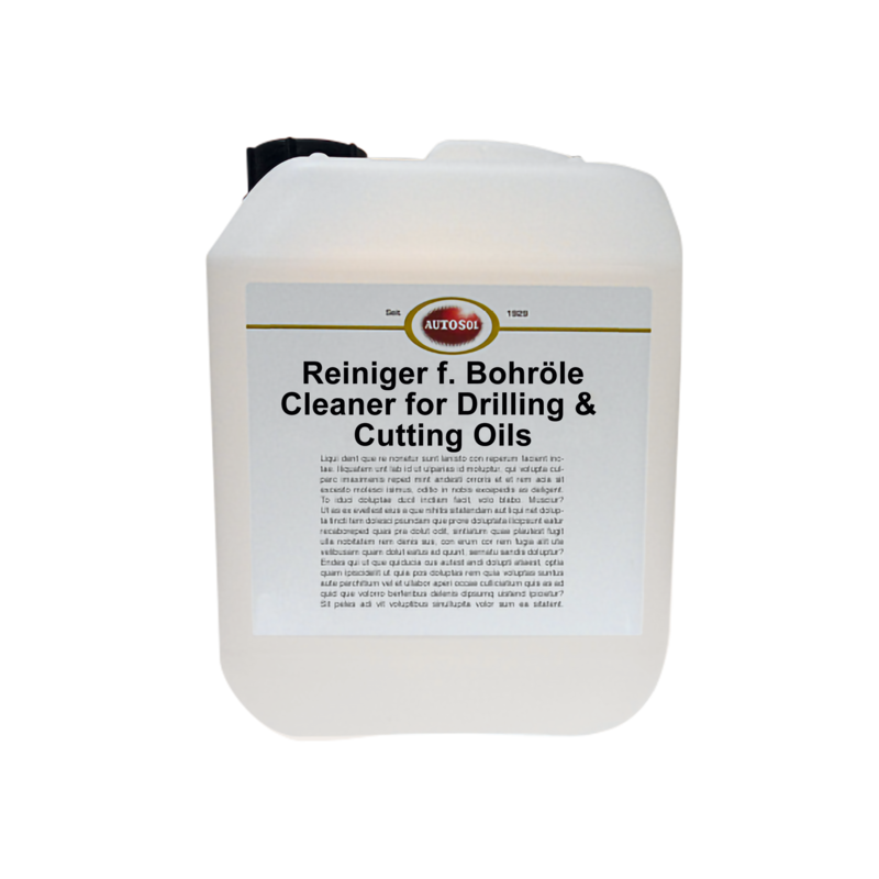Cleaner for drilling and cutting oils