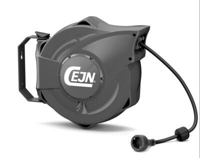 Elektro-Kabelaufroller 230 Volt, Länge 17m, inkl. CH-Stecker, IP 44, Gehäuse grau