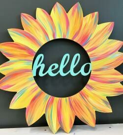Hello Sunflower Door Hang Kit