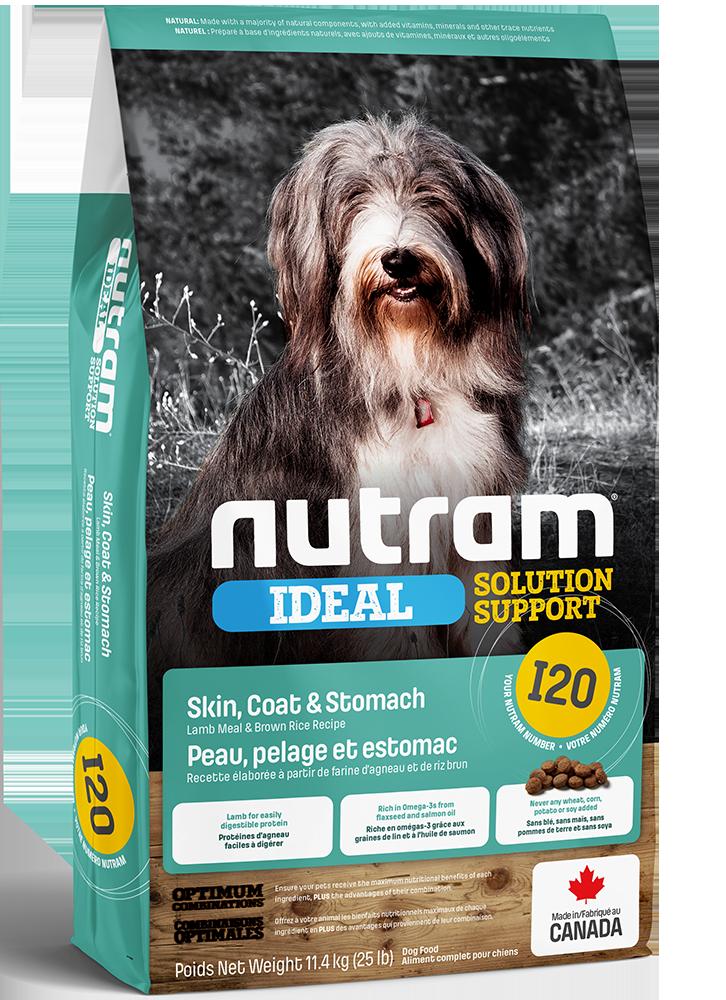 Nutram I20 Lamb Meal & Brown Rice Recipe for Skin, Coat & Stomach