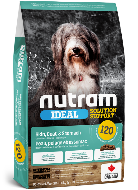 Nutram I20 Lamb Meal & Brown Rice Recipe for Skin, Coat & Stomach