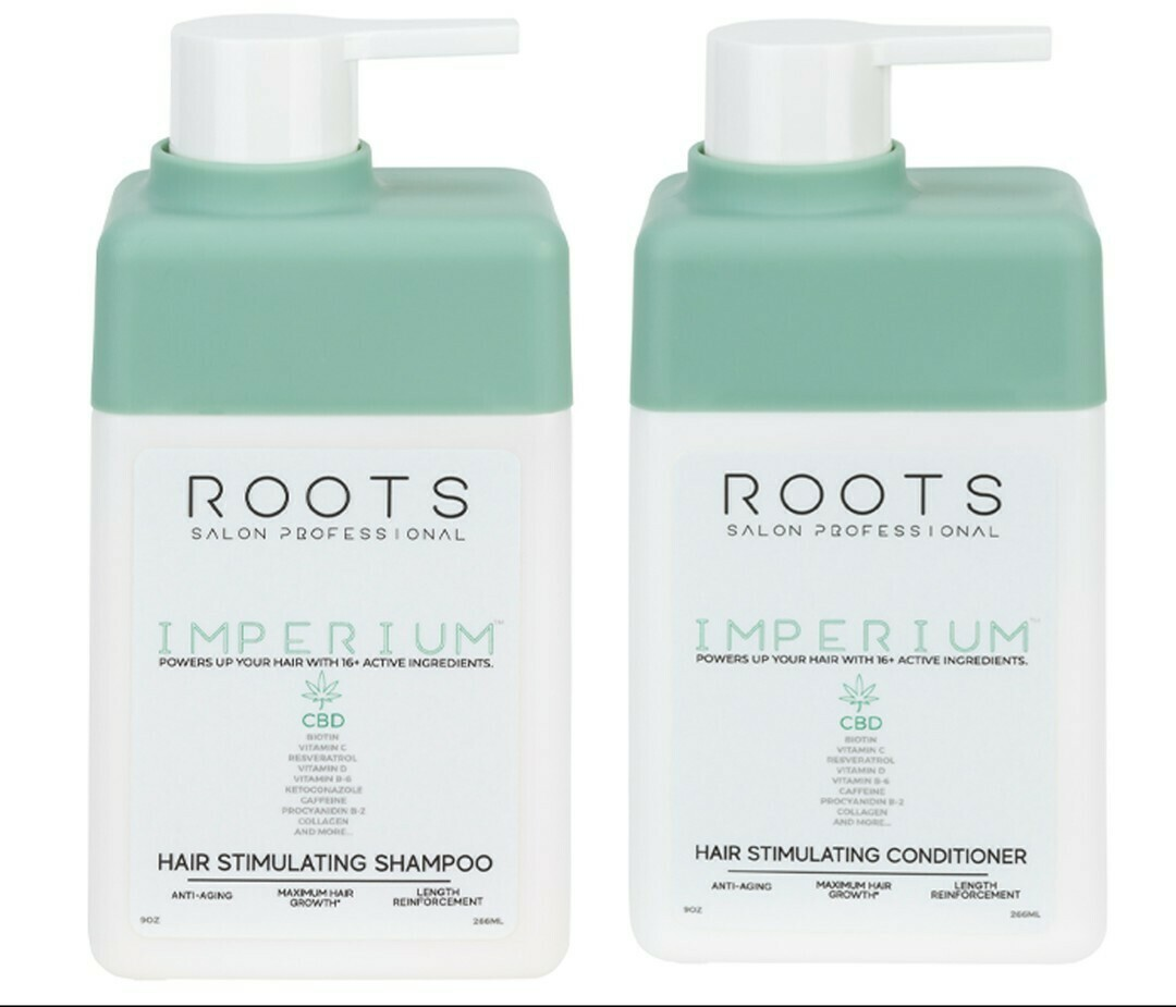 Roots Imperium CBD Shampoo and Conditioner