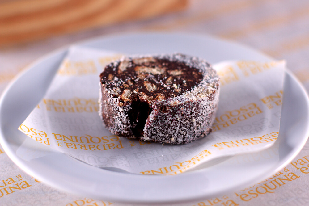 Salame de Chocolate (fatia)