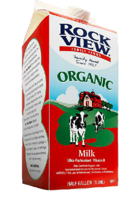 Milk Organic Whole (1/2gl)