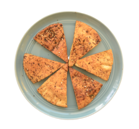 Baked Pita Chips with homemade Zaatar (Bag)