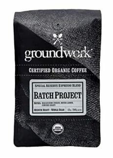 GroundWork Coffee Batch-8 Seasonal Espresso Blend Organic (12oz)
