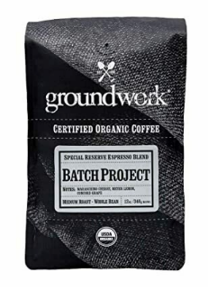 GroundWork Coffee Batch-8 Seasonal Espresso Blend Organic (12oz)