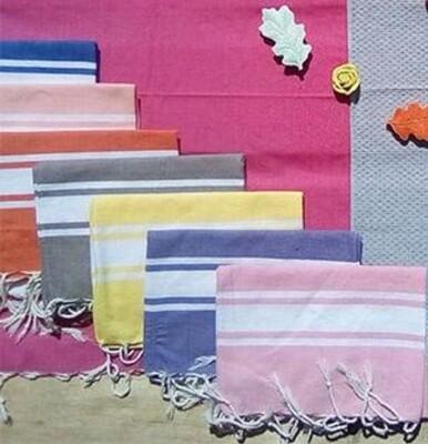 Serviette de table Classique à franges x 5