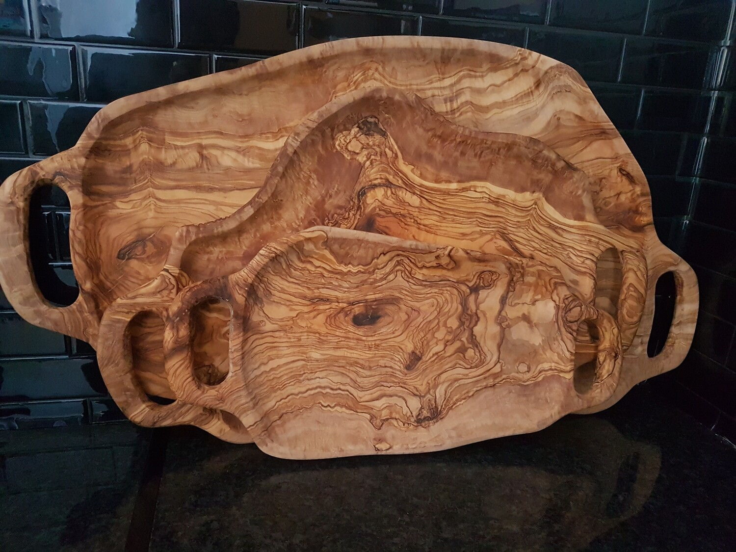 Olive wood serving tray