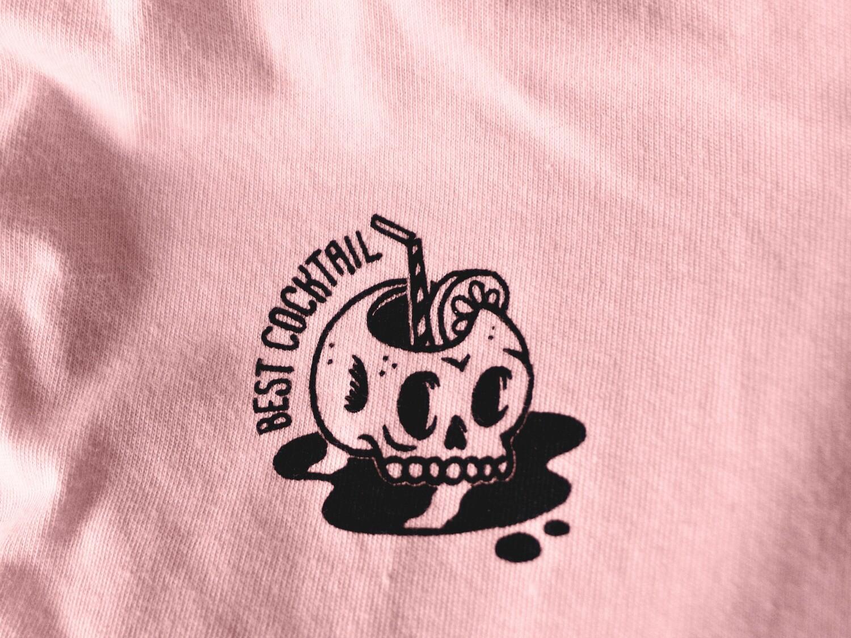 TEE SHIRT COCKTAIL - ROSE