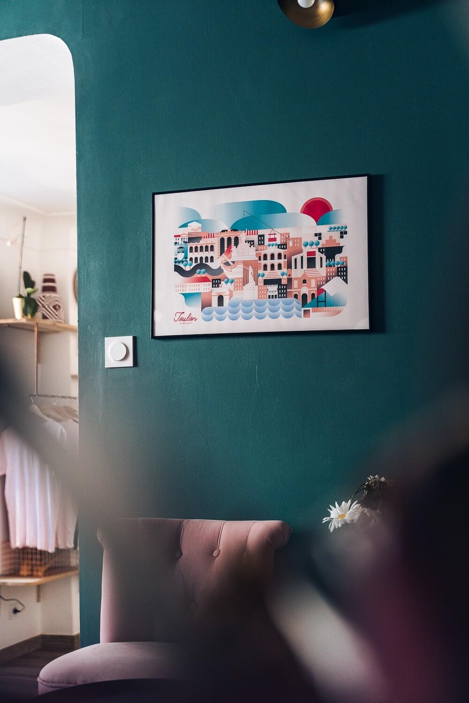 Illustration encadrée TOULON [40x60cm]