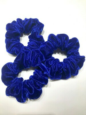 Blue Velvet Scrunchie