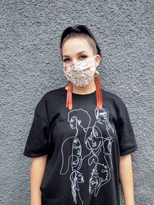 Orange Reversible Mask
