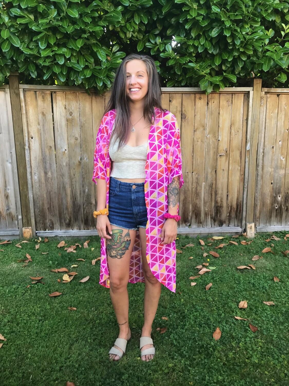 Pink Triangle Kimono